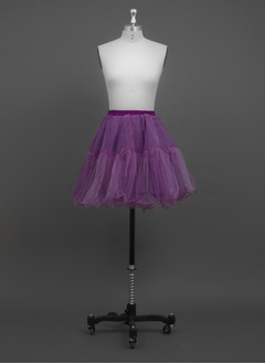 Women/Girls Organza/Polyester Short-length 2 Tiers Petticoats (03705028777)