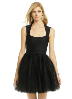 A-Line/Princess Square Neckline Short/Mini Satin Tulle Homecoming Dress With Ruffle