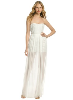 Sheath/Column Strapless Sweetheart Floor-Length Chiffon Sequined Evening Dress With Ruffle