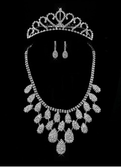 Shining Alloy With Crystal Ladies' Jewelry Sets
