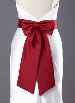 Satin Short/Mini With Bow Sashes