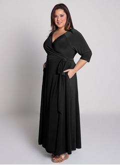 Empire V-neck Floor-Length Chiffon Mother of the Bride Dress With Pleated