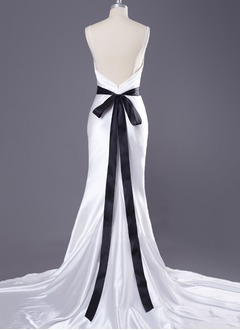 Ribbon Ankle-Length With Bow Sashes