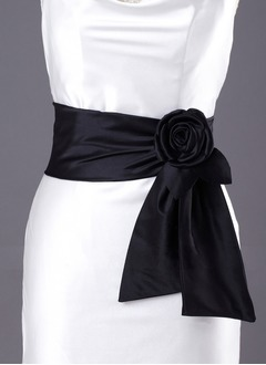 Satin With Flower Sashes
