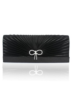 Elegant Silk With Beading/Bowknot Clutches
