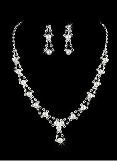 Gorgeous Alloy With Rhinestone/Imitation Pearls Ladies' Jewelry Sets