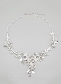 Elegant Alloy With Crystal/Imitation Pearls Ladies' Necklaces (0115093756)