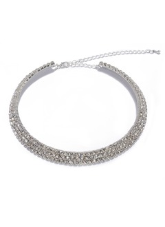Beautiful Alloy With Rhinestone Necklaces