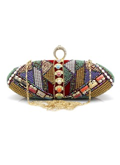 Elegant Velvet With Crystal/ Rhinestone Clutches