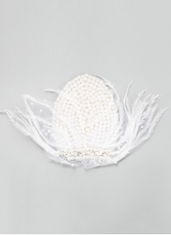 Beautiful/Fancy Rhinestone/Imitation Pearls/Feather Headpiece