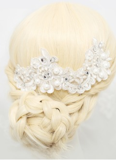 Rhinestone/Imitation Pearls/Lace Headpiece