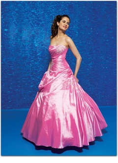 Ball-Gown Sweetheart Floor-Length Taffeta Quinceanera Dress With Ruffle Lace Beading