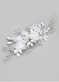 Alloy/Imitation Pearls/Silk Flower Headpiece