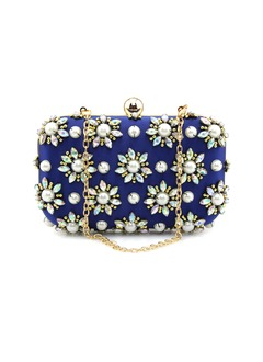 Elegant Polyester With Beading/Rhinestone Clutches