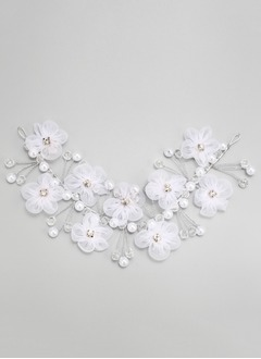 Gorgeous/Pretty Rhinestone/Alloy/Imitation Pearls/Silk Flower Headpiece (0425101403)