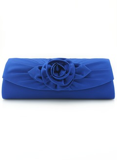 Elegant Polyester With Flower Clutches