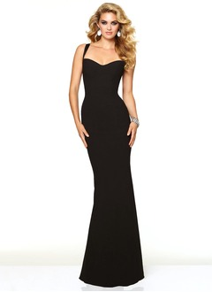 Sheath/Column Sweetheart Floor-Length Jersey Prom Dress
