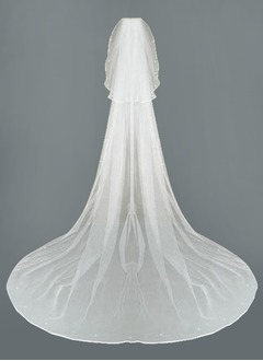 Two-tier Cathedral Bridal Veils With Ribbon Edge (00605003806)