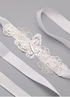 Ribbon 79inch(200cm) With Lace Rhinestone Sashes