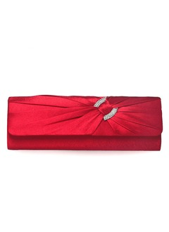 Elegant Silk With Crystal/ Rhinestone/Bowknot Clutches/Cross-Body Bags/Shoulder Bags