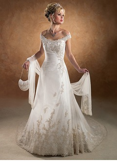 Tulle Wedding Shawl