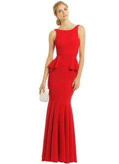 Trumpet/Mermaid Scoop Neck Floor-Length Jersey Evening Dress With Ruffle
