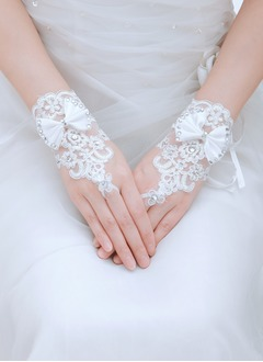 Tulle Wrist Length Bridal Gloves (0145093793)