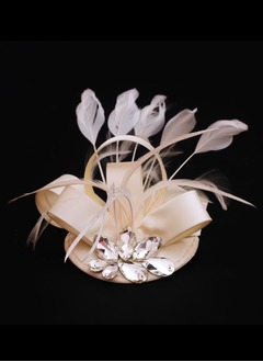 Glamourous/Luxurious Rhinestone/Feather/Satin Fascinators