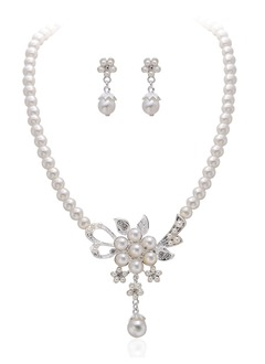 Alloy With Rhinestone Jewelry Sets