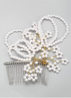 Gorgeous/Charming Alloy/Imitation Pearls Hairpins