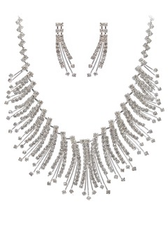 Beautiful Alloy With Crystal Ladies' Jewelry Sets