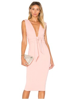 Sheath/Column V-neck Knee-Length Chiffon Cocktail Dress With Bow(s)