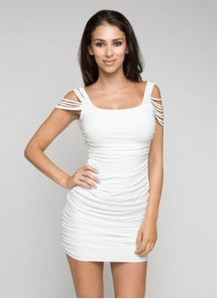 Sheath/Column Scoop Neck Short/Mini Jersey Cocktail Dress  ...
