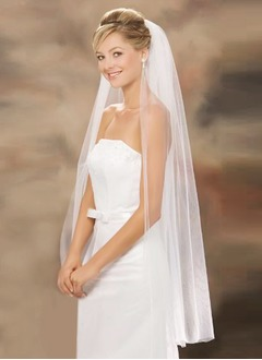 One-tier Waltz Bridal Veils With Cut Edge (00605003642)