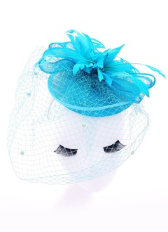 Gorgeous/Exquisite Net Yarn/Feather/Cambric Fascinators