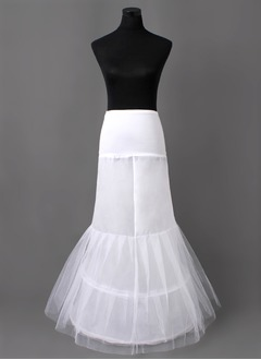 Women Nylon/Tulle Netting Floor-length 2 Tiers Petticoats (03705028713)