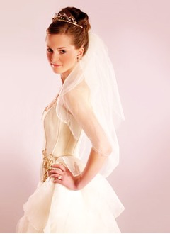 One-tier Elbow Bridal Veils With Pencil Edge (00605003616)