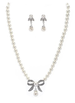 Nice Alloy With Pearl Ladies' Jewelry Sets