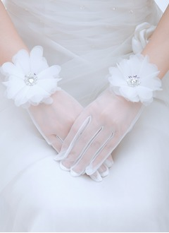 Tulle Wrist Length Bridal Gloves (0145093792)