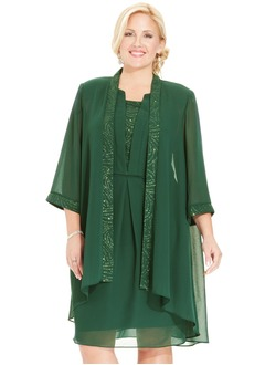 3/4-Length Sleeve Chiffon Charmeuse Special Occasion Wrap