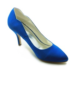 Vrouwen Satijn Stiletto Heel Closed Toe Pumps