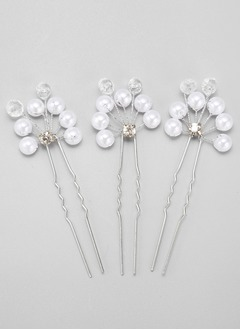 Elegant/Fancy Rhinestone/Alloy/Imitation Pearls Hairpins