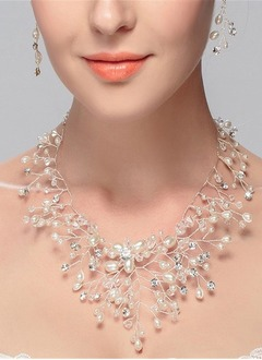 Shining Alloy/Pearl/Rhinestones/Crystal With Pearl/Rhinestone/Crystal Ladies' Necklaces