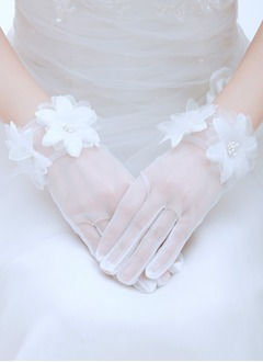 Tulle Wrist Length Bridal Gloves (0145093795)