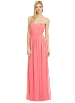 A-Line/Princess Strapless Sweetheart Floor-Length Chiffon Evening Dress With Ruffle