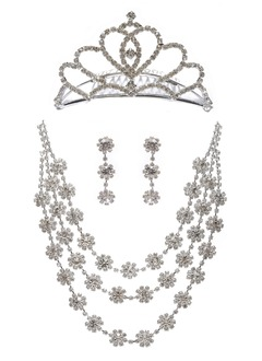 Alloy With Rhinestone Ladies' Jewelry Sets
