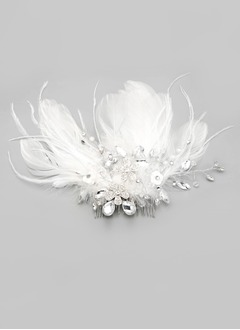 Alloy/Imitation Pearls/Feather Flowers & Feathers
