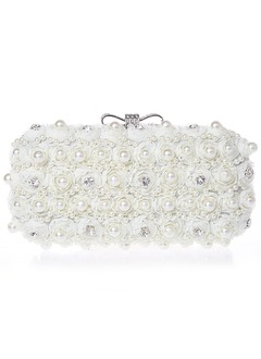 Elegant Lace/Chiffon With Pearl/Rhinestone Clutches