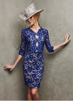 3/4-Length Sleeve Lace Special Occasion Wrap (0135060301)