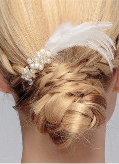 Beautiful/Lovely/Fashion/Nice/Pretty/Charming Imitation Pearls/Feather Combs & Barrettes